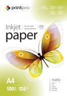 Бумага для фотопринтера PrintPro A4 135g/m2 100л (PME135100A4)