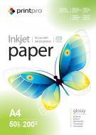 Бумага для фотопринтера PrintPro A4 200g/m2 50л (PGE200050A4)