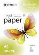 Бумага для фотопринтера PrintPro A4 190g/m2 500л (PME190500A4)