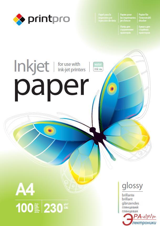 Бумага для фотопринтера PrintPro A4 230g/m2 100л (PGE230100A4)