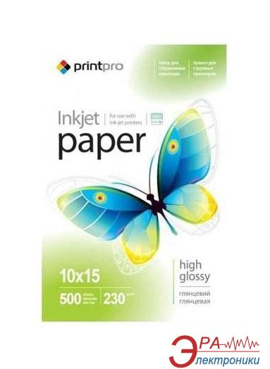Бумага для фотопринтера PrintPro 10x15 230g/m2 500л (PGE2305004R)