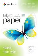 Бумага для фотопринтера PrintPro 10x15 230g/m2 100л (PGE2301004R)