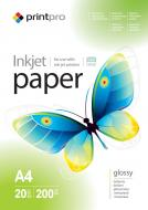 Бумага для фотопринтера PrintPro A4 200g/m2 20л (PGE200020A4)