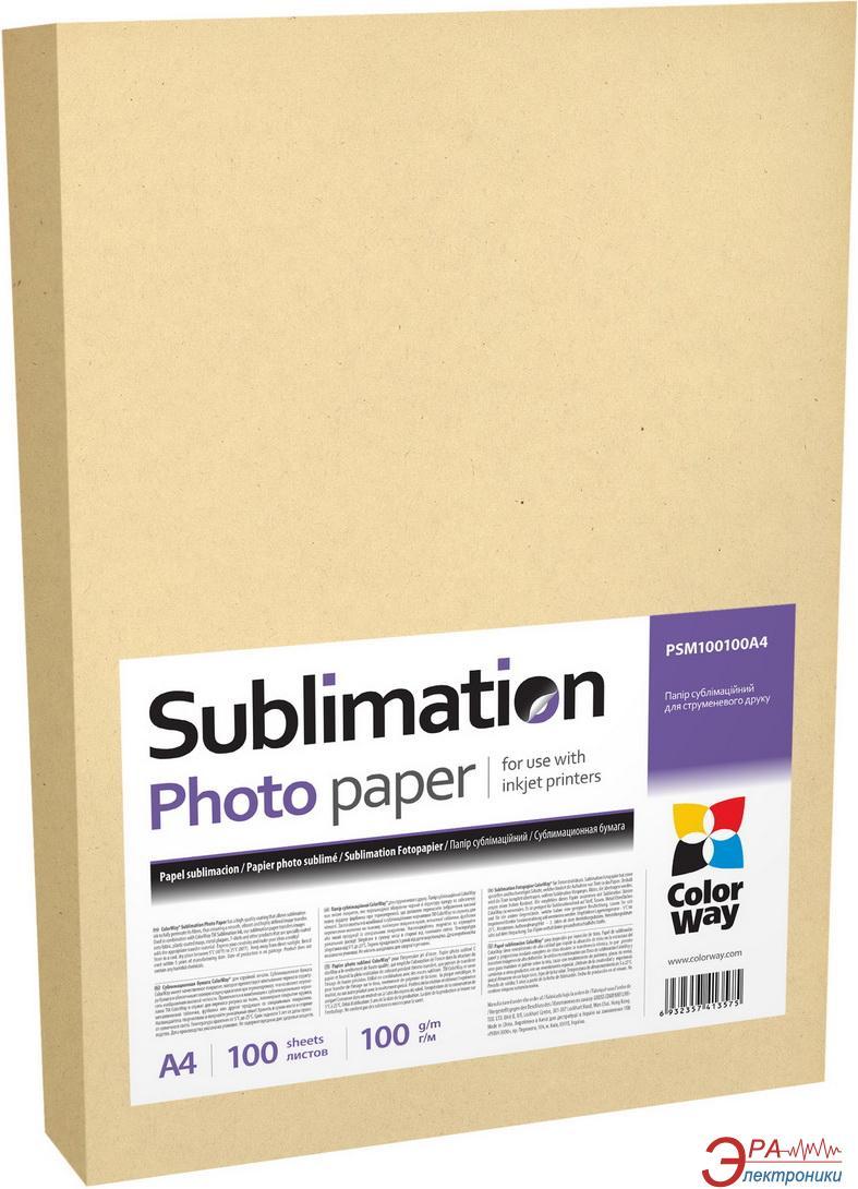 Бумага для фотопринтера ColorWay A4 100g/m2 100л Sublimation (PSM100100A4)