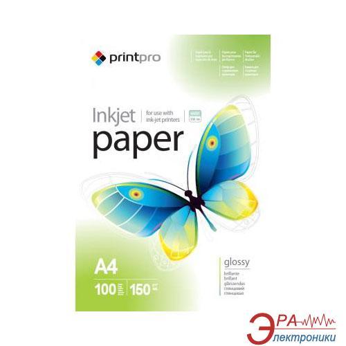 Бумага для фотопринтера PrintPro 150g/m2 А4 100 л (PGE150100A4)