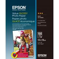 Бумага для фотопринтера Epson 100mmx150mm Value Glossy 100 л. (C13S400039)