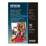 Бумага для фотопринтера Epson 100mmx150mm Value Glossy 20 л. (C13S400037)