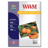 Бумага для фотопринтера WWM A3 (M230.A3.100)