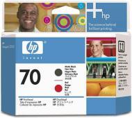 Печатающая головка HP No.70 (C9409A) matte black and red