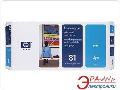 Печатающая головка HP No.81 Dye&Cleaner (C4954A) cyan
