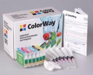 Комплект перезаправляемых картриджей ColorWay P50RC-6.1 Epson Stylus Photo P: 50  Stylus Photo PX: 650, 660, 700, 710, 720, 800, 810, 820, 830 Stylus Photo R: 265, 285, 360  Stylus Photo RX: 560, 585, 685
