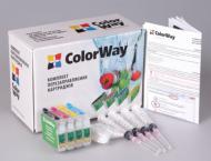 Комплект перезаправляемых картриджей ColorWay (T40RC-0.0) Epson (Stylus TX200/TX209/TX210/TX219/TX400/TX409/TX410/TX419/TX550W Stylus Office TX300/TX600/T40W)