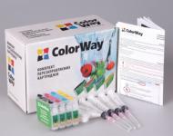 Комплект перезаправляемых картриджей ColorWay T26RC-4.5 Epson (Stylus T26/T27/C91/TX106/TX109/TX117/TX119/CX4300)