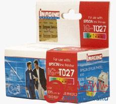 Совместимый картридж Imagine Graphics IG-T027 Epson Stylus Photo 810/820/925/830/830U/935/ PM-810/730C/830C/850PT/C50 Yellow