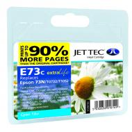 Совместимый картридж JetTec E73C EPSON Stylus C79/CX3900/TX200/TX209/TX400 Cyan