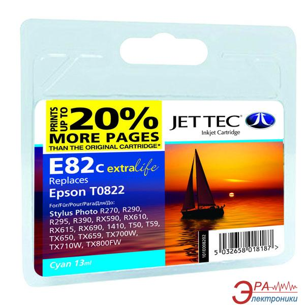 Совместимый картридж JetTec E81/82C EPSON STYLUS PHOTO 1410 / R270 / R290 / R295 / R390 / RX590 / RX610 / RX615 / RX690 / T50 / T59 / TX Cyan