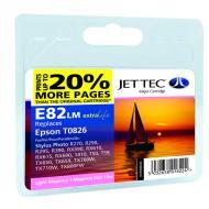 Совместимый картридж JetTec E81/82LM EPSON STYLUS PHOTO 1410 / R270 / R290 / R295 / R390 / RX590 / RX610 / RX615 / RX690 / T50 / T59 / TX Cyan
