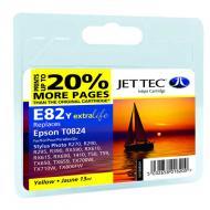 Совместимый картридж JetTec E81/82Y EPSON STYLUS PHOTO 1410 / R270 / R290 / R295 / R390 / RX590 / RX610 / RX615 / RX690 / T50 / T59 / TX Yellow