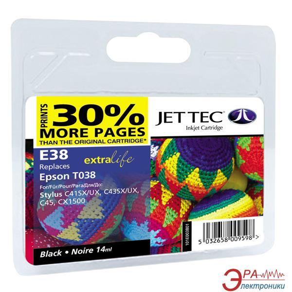 Совместимый картридж JetTec E38 EPSON STYLUS C41 / C43 / C45 / CX1500 Black
