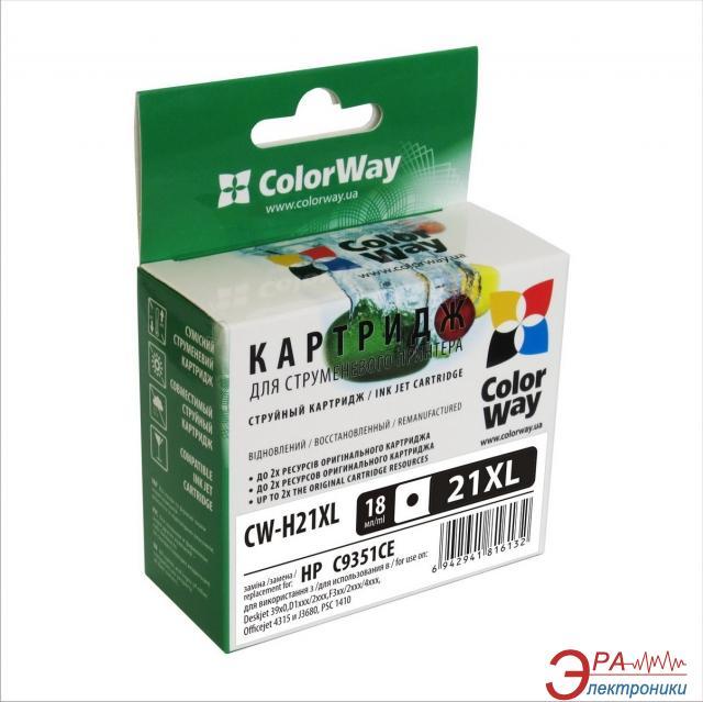 Совместимый картридж ColorWay CW-H21XL (DeskJet: 3910 / 3918 / 3920 / 3930 / 3938 / 3940 / D1311 / D1320 / D1330ser / D1341 / D1360ser / D14) Black