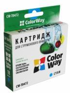 Совместимый картридж ColorWay (CW-T0472) (Stylus:C63/C65/C83/C85/CX3500/CX4500/CX6300/CX6500) Cyan