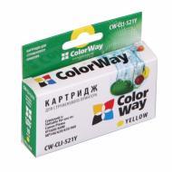 ����������� �������� ColorWay (CW-CLI-521Y) (PIXMA MP540 / MP550 / MP560 / MP620 / MP630 / MP640 / MX860 / MX870 / MP980 / MP990 / IP3600 / IP46 Yellow