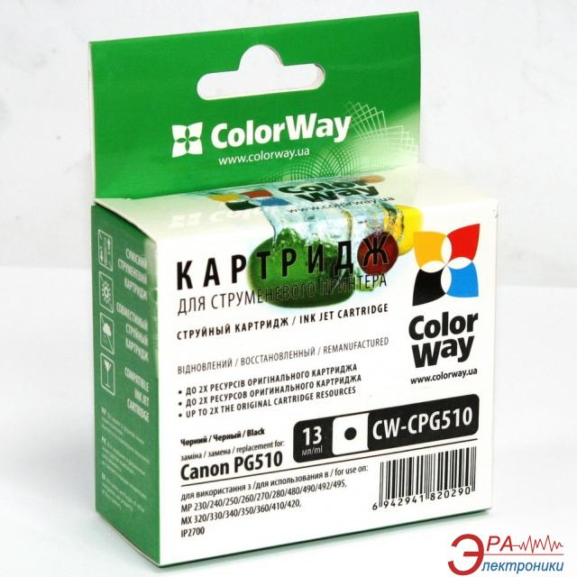 Совместимый картридж ColorWay CW-CPG510 (PIXMA: IP2700 / IP2702 / MP230 / MP235 / MP240 / MP250 / MP252 / MP260 / MP270 / MP272 / MP280 / MP282 / MP480 / MP490 / MP492 / MP495 / MP499 / MX320 / MX330 / MX340 / MX350 / MX360 / MX410 / MX420) Black