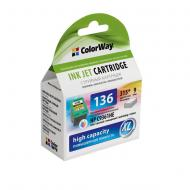 Совместимый картридж ColorWay CW-H136XL (DeskJet: 5743, PhotoSmart: C4183, PSC: 1513) (C, M, Y)