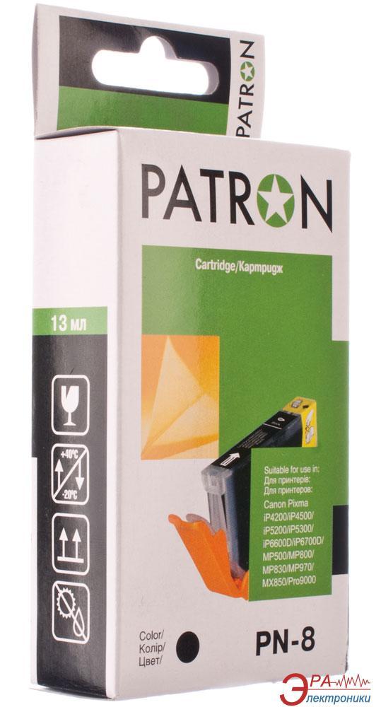 Совместимый картридж Patron CLI-8Bk (PN-8) (CI-CAN-CLI-8-B1-PN) (PIXMA iP4200/ 4300/ 4500/ 5200/ 5300/ 6600D/ 6700D MP500/ 530/ 600/ 610/ 800/ 810/ 830/ 970 MX850 Pro9000) Black