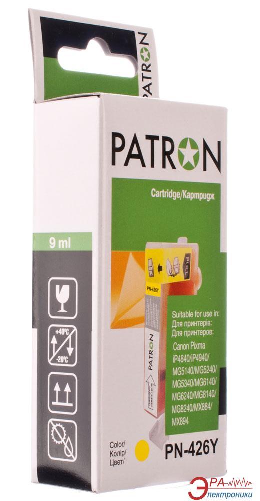 Совместимый картридж Patron CLI-426Y (PN-426Y)(CI-CAN-CLI-426-Y-PN) (PIXMA iP4840/ MG5140/ MG5240/ MG6140/ MG8140, MX884) Yellow