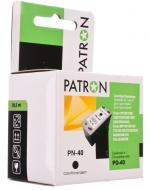 Совместимый картридж Patron PG-40 (PN-40XL)(CI-CAN-PG-40-B-PN) (PIXMA MP140 / MP150 / MP160 / MP170 / MP180 / MP190 / MP210 / MP220 / MP450 / MP460 / MX300 / MX310 / iP1200 / iP1300 / iP1600 / iP1800 / iP1900 / iP2200 / iP2500 / iP2600 / iP1800 / iP1700 /
