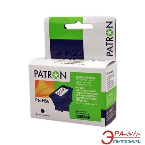 Совместимый картридж Patron C6656AE (PN-H56)(CI-HP-C6656AE-B-PN) (Deskjet 450ci/ 450cbi/ 450wbt/ 5145/ 5150/ 5151/ 5550/ 5552/ 5650/ 5652/ 5655/ 5850/ 9650/ 9670/ 9680) Black