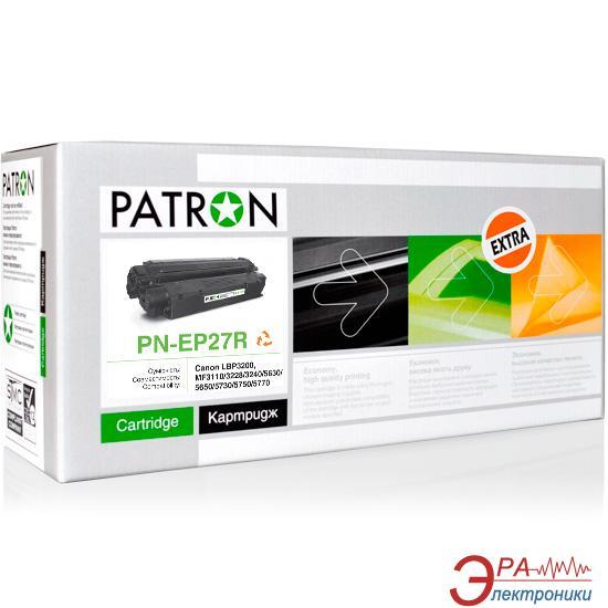 Картридж Patron EP-27 (PN-EP27R)(CT-CAN-EP-27-PN-R) (Laser Shot LBP3200, Laser Base MF3110/ 3240/ 5630/ 5650/ 5730/ 5750/ 5770, i-SENSYS MF3220/ 3228) Black