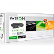 Совместимый картридж Patron EP-27 (PN-EP27R)(CT-CAN-EP-27-PN-R) (Laser Shot LBP3200, Laser Base MF3110/ 3240/ 5630/ 5650/ 5730/ 5750/ 5770, i-SENSYS MF3220/ 3228) Black