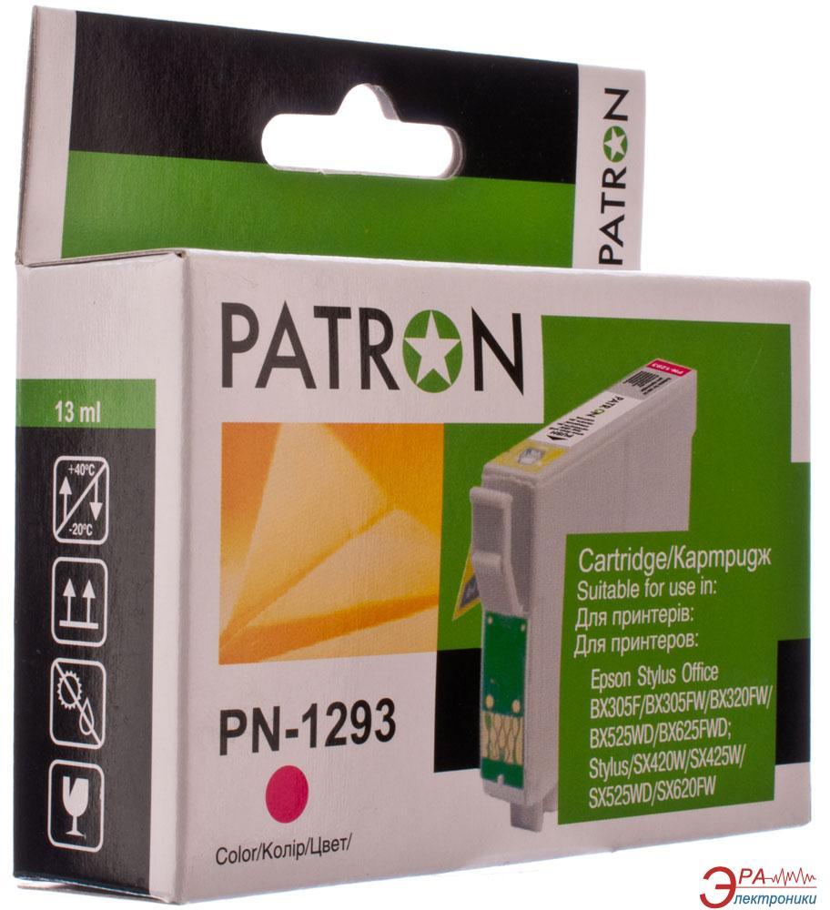 Совместимый картридж Patron T1293 (PN-1293)(CI-EPS-T1293-M-PN) (Epson BX305F/ 320/ 525/ 625, SX420/ 425/ 525/ 535/ 620) Magenta