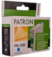 Совместимый картридж Patron T1292 (PN-1292) (CI-EPS-T1292-C-PN) (Epson BX305F/ 320/ 525/ 625, SX420/ 425/ 525/ 535/ 620) Cyan