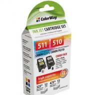 ����������� �������� ColorWay (CW-CPG510/CL511SET) Combo pack (Pixma MP240/ 280/ 490/ 495/ MX320/ 330) (C, M, Y, Bk)