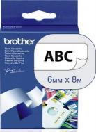 Лента клеящаяся Brother 6mm Laminated white_Print black (TZ211)