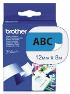 Лента клеящаяся Brother 12mm Laminated blue_Print black (TZ531)