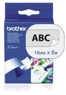Лента клеящаяся Brother 18mm Laminated clear_Print black (TZ141)