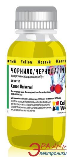 Чернила ColorWay Canon Universal Yellow CW110Y (CW-CW110Y) 100 мл (г)
