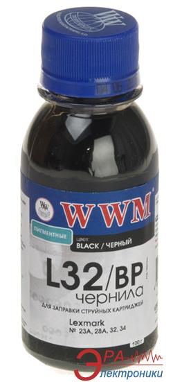 Чернила WWM Lexmark Black (L32/BP) (G226462) 100 мл (г)