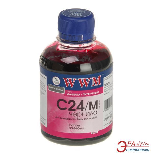 Чернила WWM Canon BCI-24C Magenta (C24/M) (G220281) 200 мл (г)
