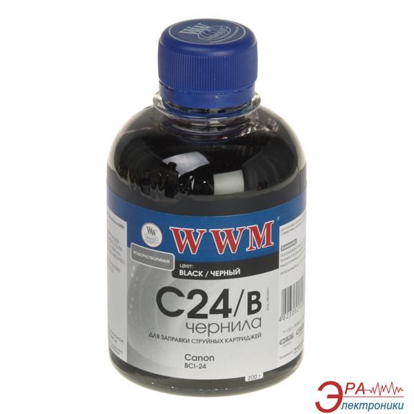 Чернила WWM Canon BCI-24B Black (C24/B) (G220251) 200 мл (г)
