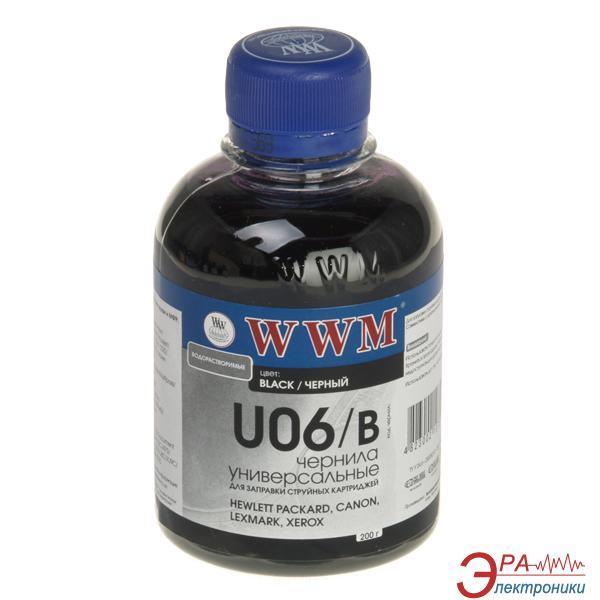 Чернила WWM Universal Canon/HP/Lexmark Black (U06/B) (G221111) 200 мл (г)