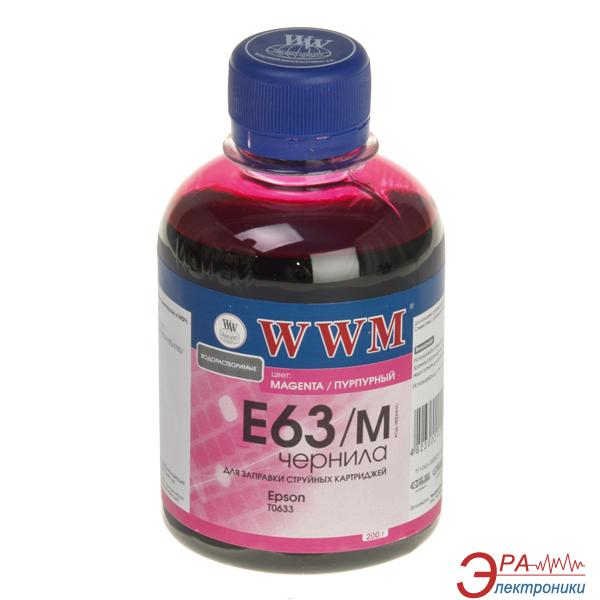 Чернила WWM Epson Stylus C67/C87/CX3700 Magenta (E63/M) (G223781) 200 мл (г)