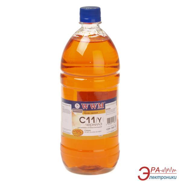 Чернила WWM Canon CL-511С/CL-513С/CLI-521Y Yellow (C11/Y-3) (G220773) 1100 мл (г)