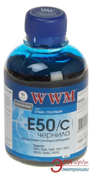 Чернила WWM Epson Stylus Photo R200/R340/RX620 Cyan (E50/C) (G222911) 200 мл (г)