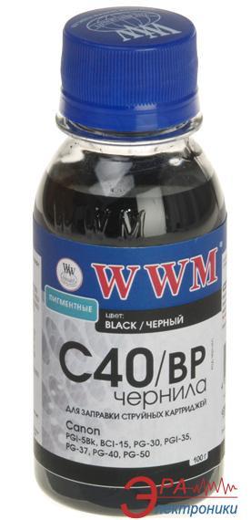 Чернила WWM Canon PG-40Bk/PG-50Bk/PGI-5Bk Black (C40/BP-2) (G220662) 100 мл (г)