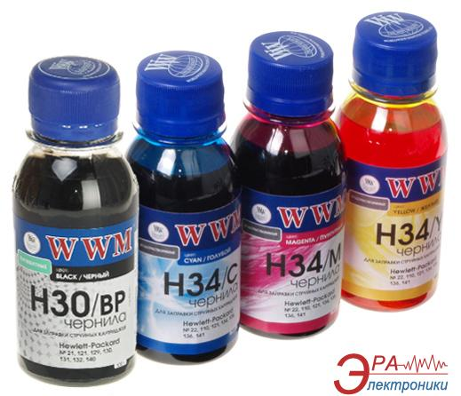 Комплект чернил WWM HP № 21/121/131 (H30/34SET-2) (G115112) 100 мл (г)